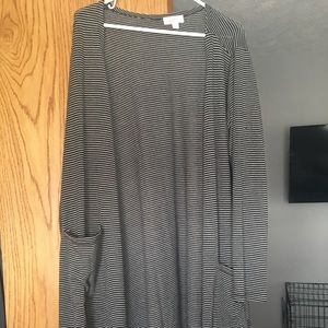 Black a soft grey Lularoe Sarah